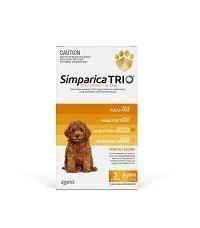 SIMPARICA TRIO 1.25kg - 2.5kg Dog Flea, Tick & Worm Chew 3 Pack
