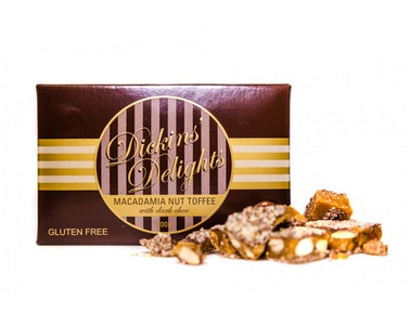 Macadamia Butter Toffee with Dark Chocolate
