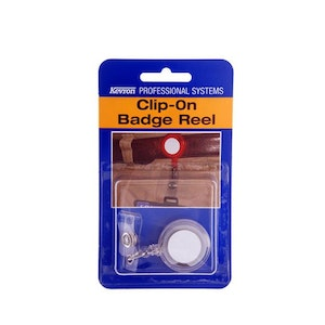 Kevron clip on retractable cord reels for ID cards, proximity cards & keys