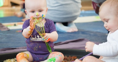 Why messy play & mark making is important in early development