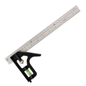 Toledo Adjustable Combination Square Metric & Imperial - 300mm