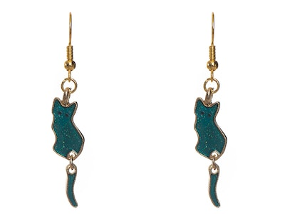Juzii Cat Earrings with moving Tail