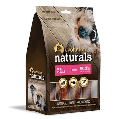EVOLUTION NATURALS Bull Pizzle Dog Treats 5 Pack
