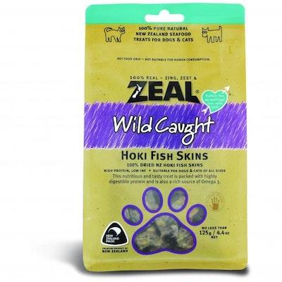 ZEAL FRN Zeal Free Range Naturals Hoki Fish Skins Dog Treats 125G