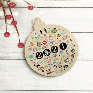 2021 Year to Remember - COVID Memory Tree Ornament - Christmas Bauble