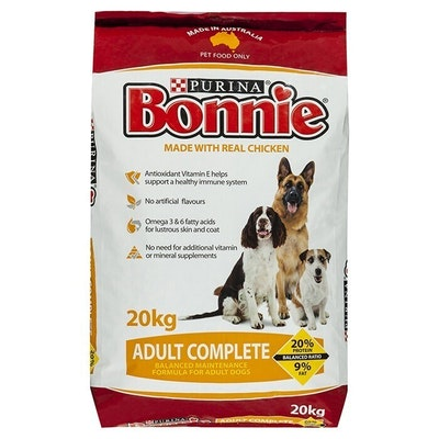 Purina Bonnie Complete Adult Dog Food All Breed Chicken 20kg