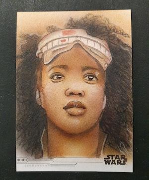2019 Topps Star Wars: The Rise of Skywalker Dan Tearle Sketch Card