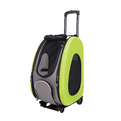 Ibiyaya EVA Pet Carrier- Pet Wheeled Carrier - Green