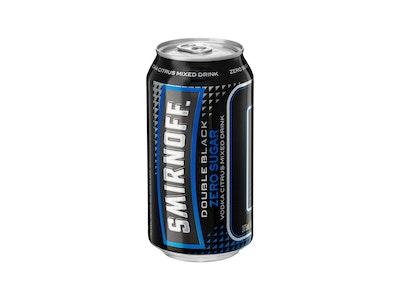 Smirnoff Ice Double Black Zero Sugar Can 6.5% 375mL
