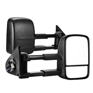 SAN HIMA SAN HIMA Pair Towing  Mirrors for Toyota Hilux 2015-ON BLACK