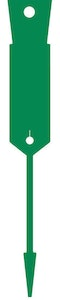 Arrow Disposable Plastic Key Tags - 1000 Pack Green Supplied With FREE Marker Pen