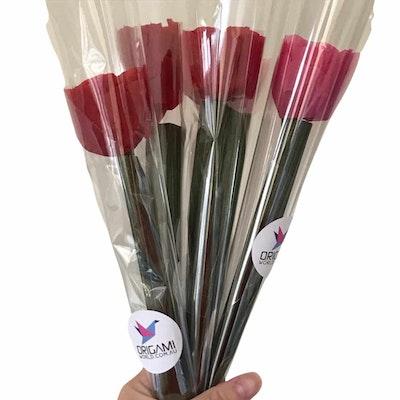 Origami World Single Ferrero Chocolate Rose/Flower Bloom – New Mums Gift, Anniversary, Birthdays, Mother's Day 2021