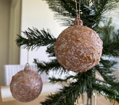 Fiona Adams Artwork Bronze Christmas Tree Decorations (set of 2)