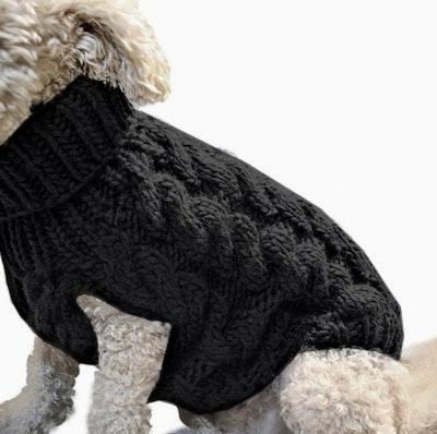Indi Knitted Sweater Black | Daniel's Pet Emporium