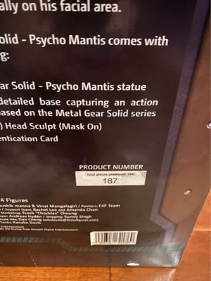 First 4 Figures Optic Camouflage Psycho Mantis Figurine