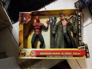"""ToyBiz (2004) - Spider-man and Doc Ock 12"""" action figures (Spider-man 2 - RARE)"""