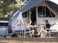 Lakeside breakfast for two Lake Hume forshore GoSee Australia pic