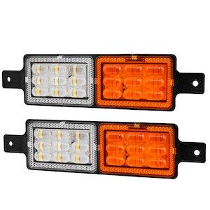 LIGHTFOX LIGHTFOX Pair Universal LED Bullbar Indicator Lights