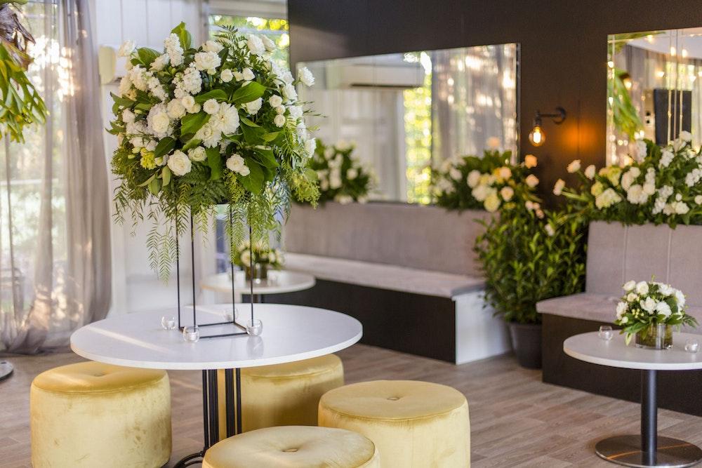 White White Greenery Wedding LENZO