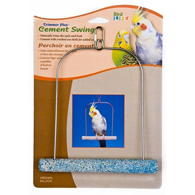 Penn Plax Cement Bird Swing with Wire Frame