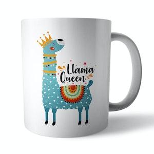 Llama Queen Ceramic Mug