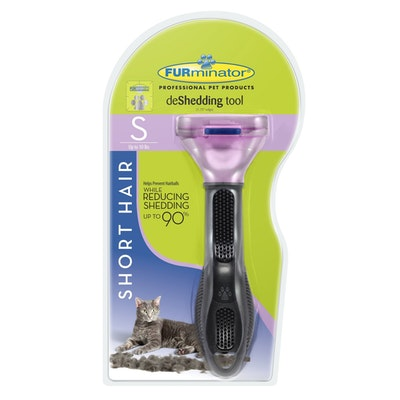 Furminator Cat Short Hair Small Pink Metallic