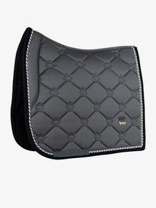 PSOS Dressage Saddle pad Anthracite - Victory, however long and hard the road may be