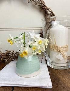 Ceramic Bud Vase - medium - Dusty Eucalyptus Green