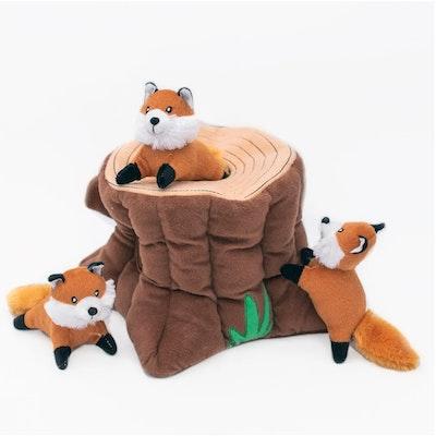 Zippy Paws Burrow Fox Stump