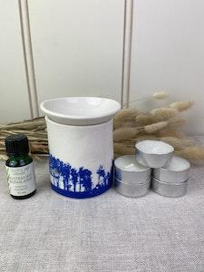 Gift Set Oil Burner with Essential Oil and Tea Lights