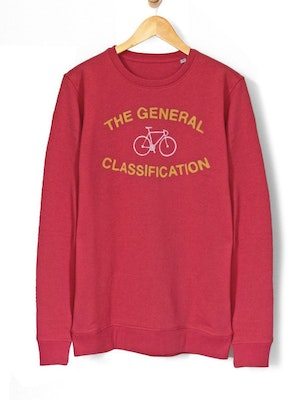 The General Classification Median Bicycle Crew Carmine Red