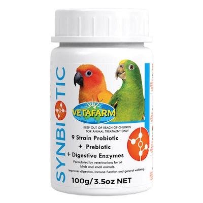 Vetafarm Synbiotic Avian Probiotic Prebiotic Digestive Bird Aid - 3 Sizes