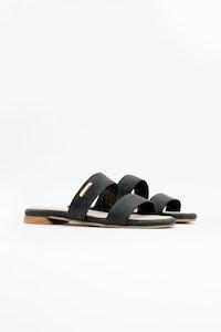 1 People Capri Sandals in Charcoal Black