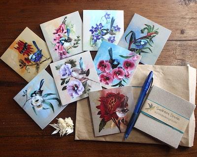 Sunbirds Design Beaks and Buds 8 Card Set