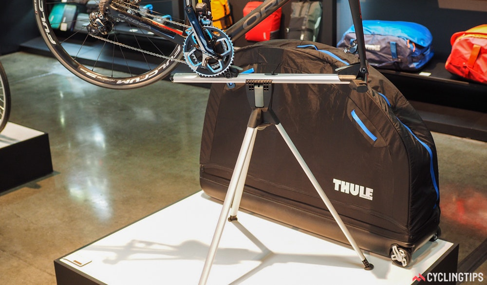 Thule bike travel case bike stand InterBike 2016 CyclingTips 43058