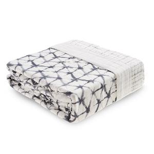 aden + anais pebble shibori oversized silky soft bamboo muslin blanket