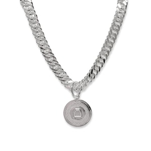 Breeze Curb Chain Necklace with Large Stirrup Medallion