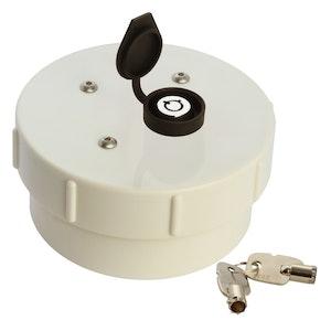 ADI Lockable Caps 100mm PVC Lockable Cap with Coupling