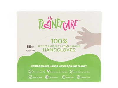 Progeny Stores PlanetCare Compostable Hangloves - Large Size - 100pcs in a pack (20 packs in a Carton)