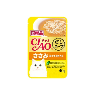 INABA CIAO Soup Pouch For Cat Chicken Fillet In Scallop Broth Soup Pouch 40g