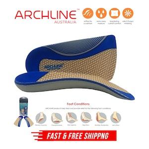 ARCHLINE 3/4 Slim Orthotics Plantar Fasciitis Insoles Balance Support Relief