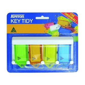 Kevron Key Tag Rack ID9 4 Pack with Key Rack Mixed Colours