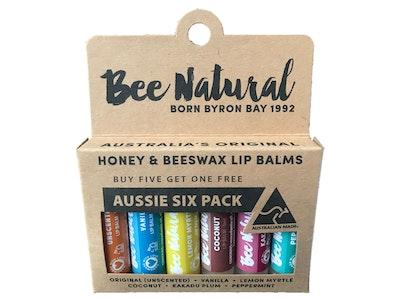 Bee Natural AUSSIE SIX PACK LIP BALMS (5+1 Free)