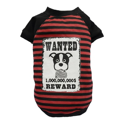 DoggyDolly SMALL DOG - WANTED Red Doggy T Shirt