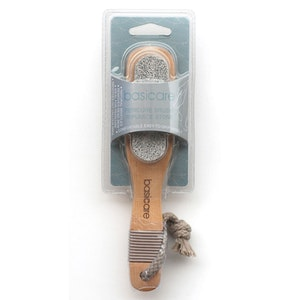 Basic Care Pedicure Brush Natural Bristles With Pumice Stone