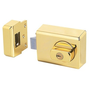 Whitco Deadlatch with Timber Frame Strike Single Pack - Gold