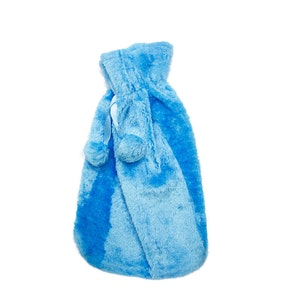 Safe Home Care Hot Water Bottle Cover Relaxing Warmer Heat Soft Bag Aqua