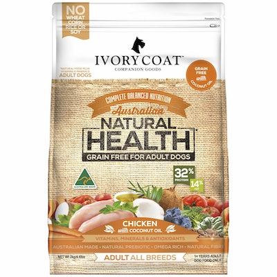 IVORY COAT Grain Free Adult Chicken & Coconut Oil Dry Dog Food