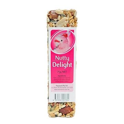 PASSWELL Avian Delight Bird Seed Treat Bar Nutty 75g 24 Pack