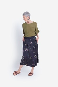 ELK GALIA SKIRT - BLACK MULTI